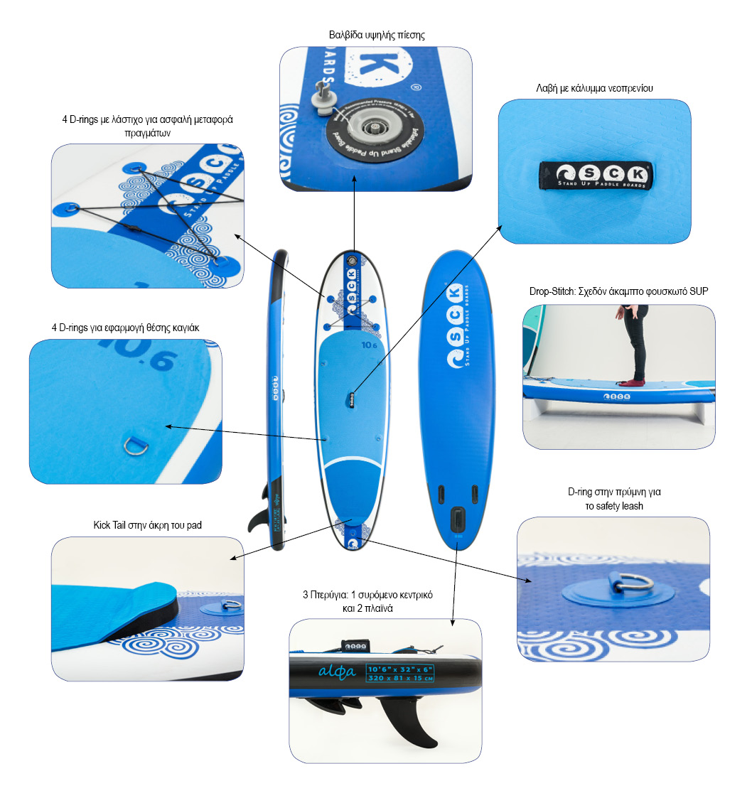 SCK inflatable SUP alfa 10'6'' Details