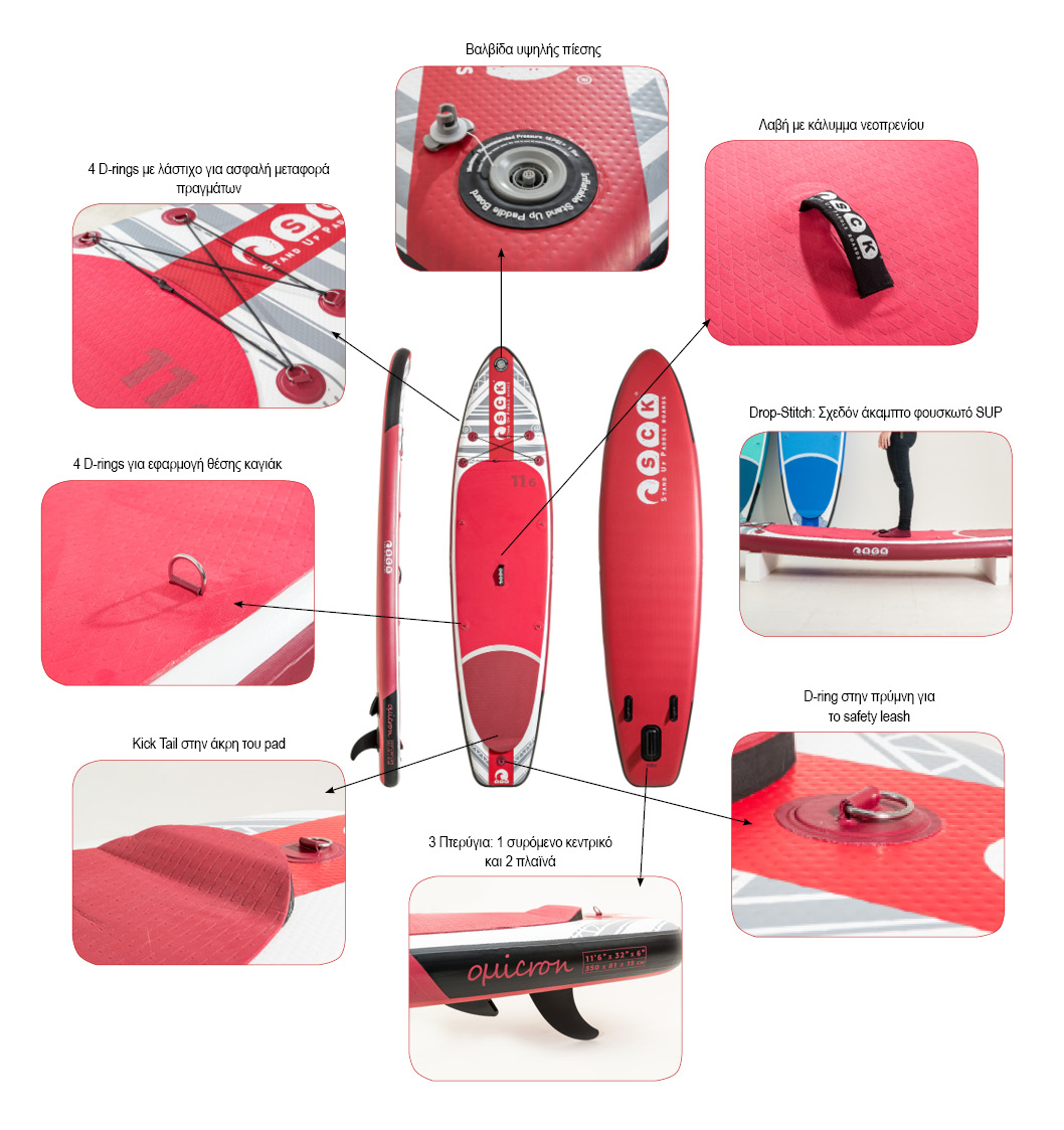 SCK inflatable SUP omicron 11'6'' Details
