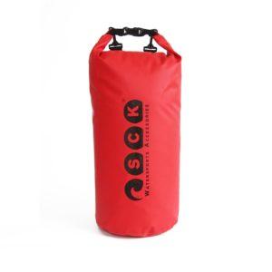 Αδιάβροχος σάκος με ιμάντες πλάτης 30L κόκκινος