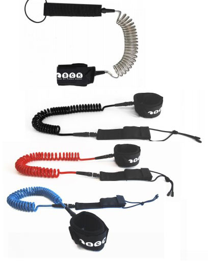 SCK safety SUP leash coiled