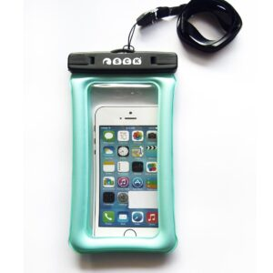 Dry phone case that floats SCK cyan