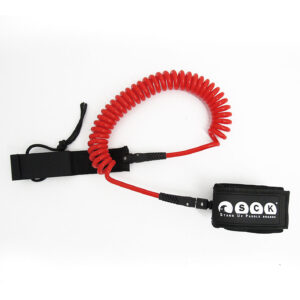 SCK Safety leash Spriral 10ft Red