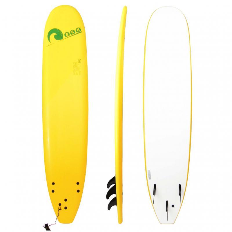 Σανίδα surf Soft-board 9ft Kίτρινη SCK