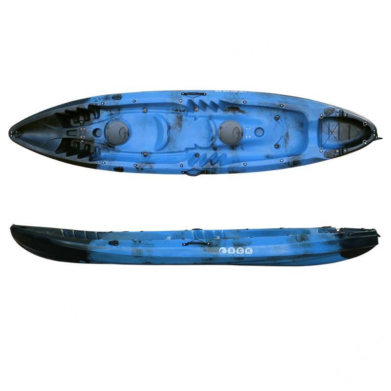 Nereus θαλάσσιο καγιάκ 2+1 θέσεων SCK μαύρο-μπλε