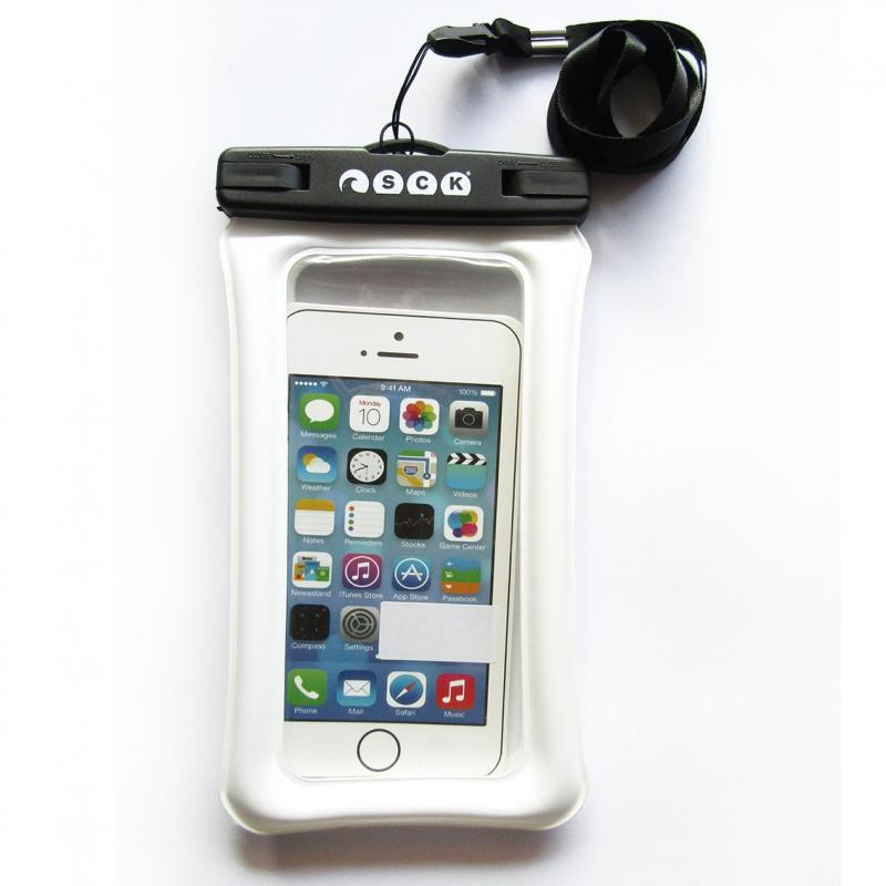Dry phone case that floats SCK white