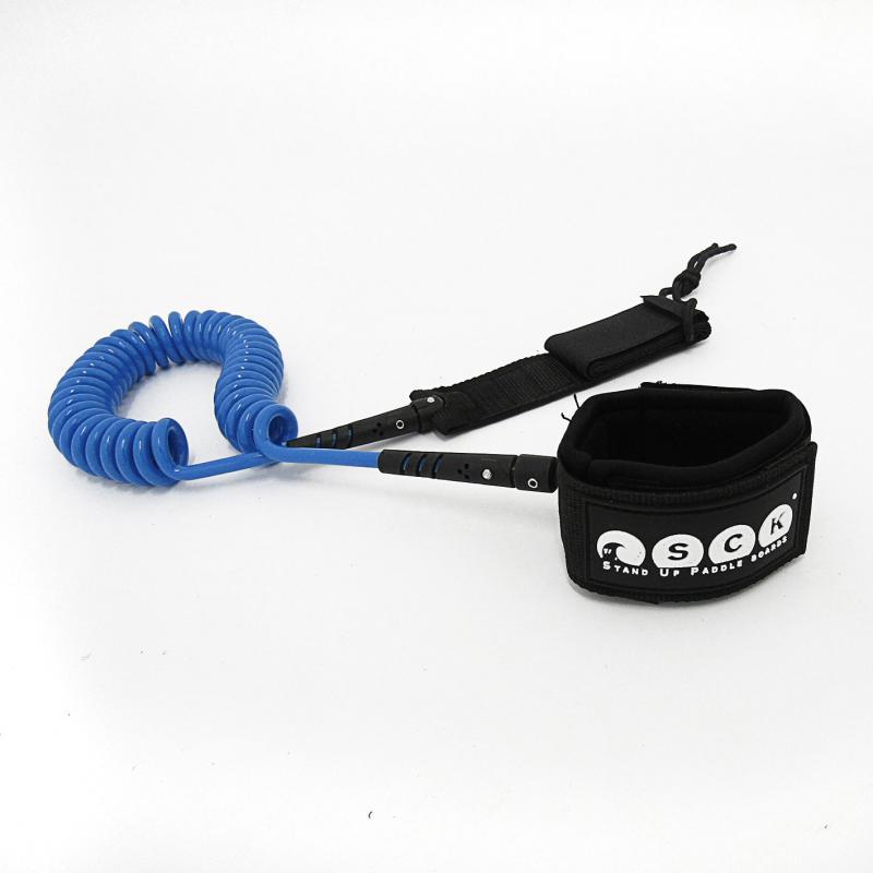 SCK Safety leash Spriral 10ft Blue