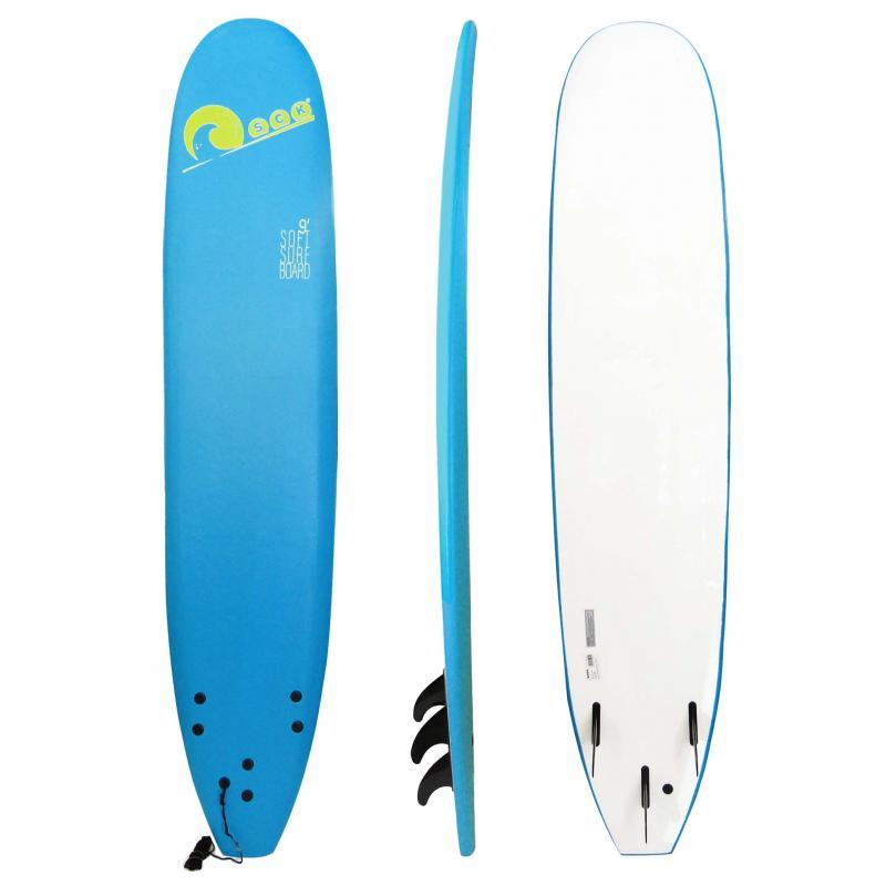 Σανίδα surf Soft-board 9ft Μπλε