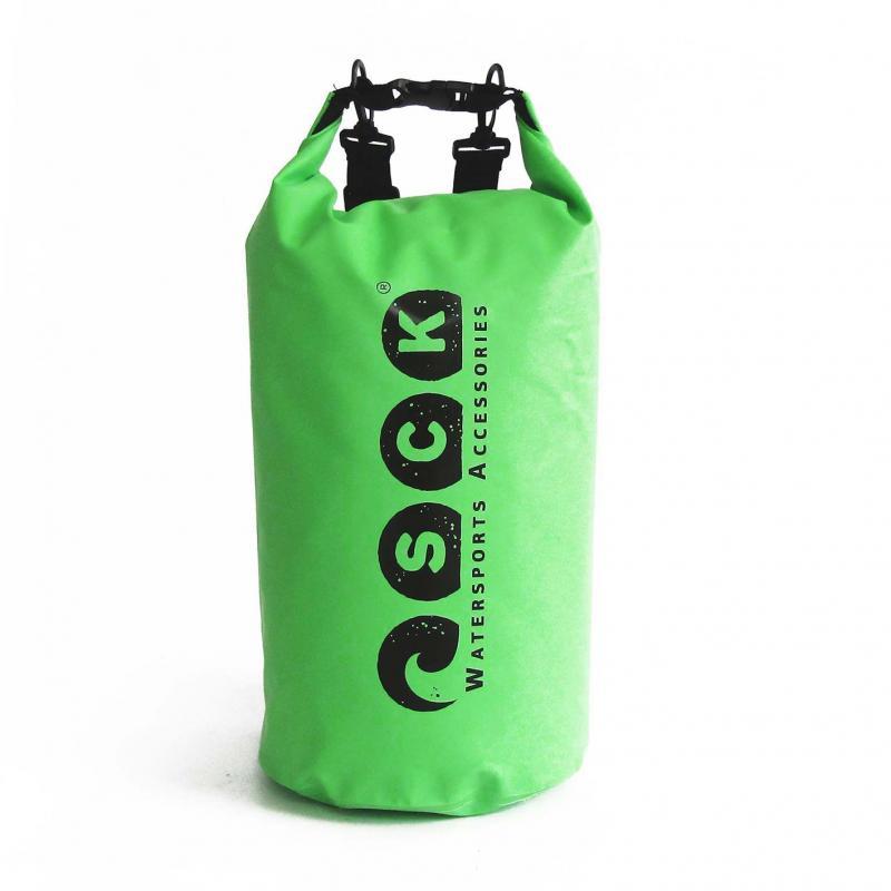 Αδιάβροχος σάκος με ιμάντες πλάτης 20L πράσινος